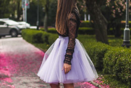 tiulowa spódnica wesele