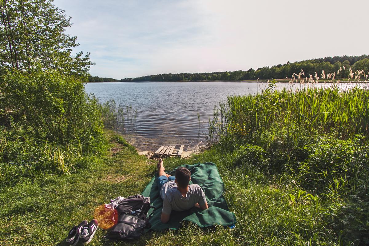 Jezioro Marksoby na mazurach szczytno