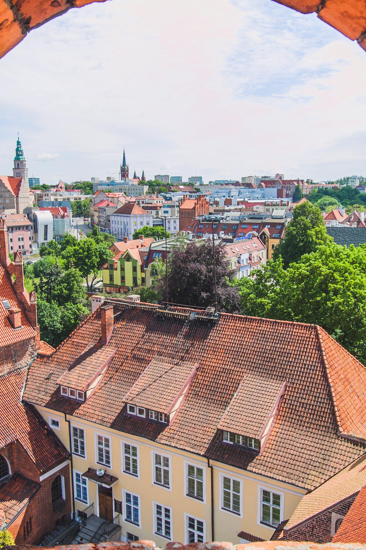zamek kapituły warmińskiej olsztyn widok na miasto