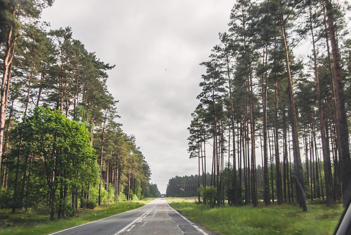 leśne drogi na mazurach