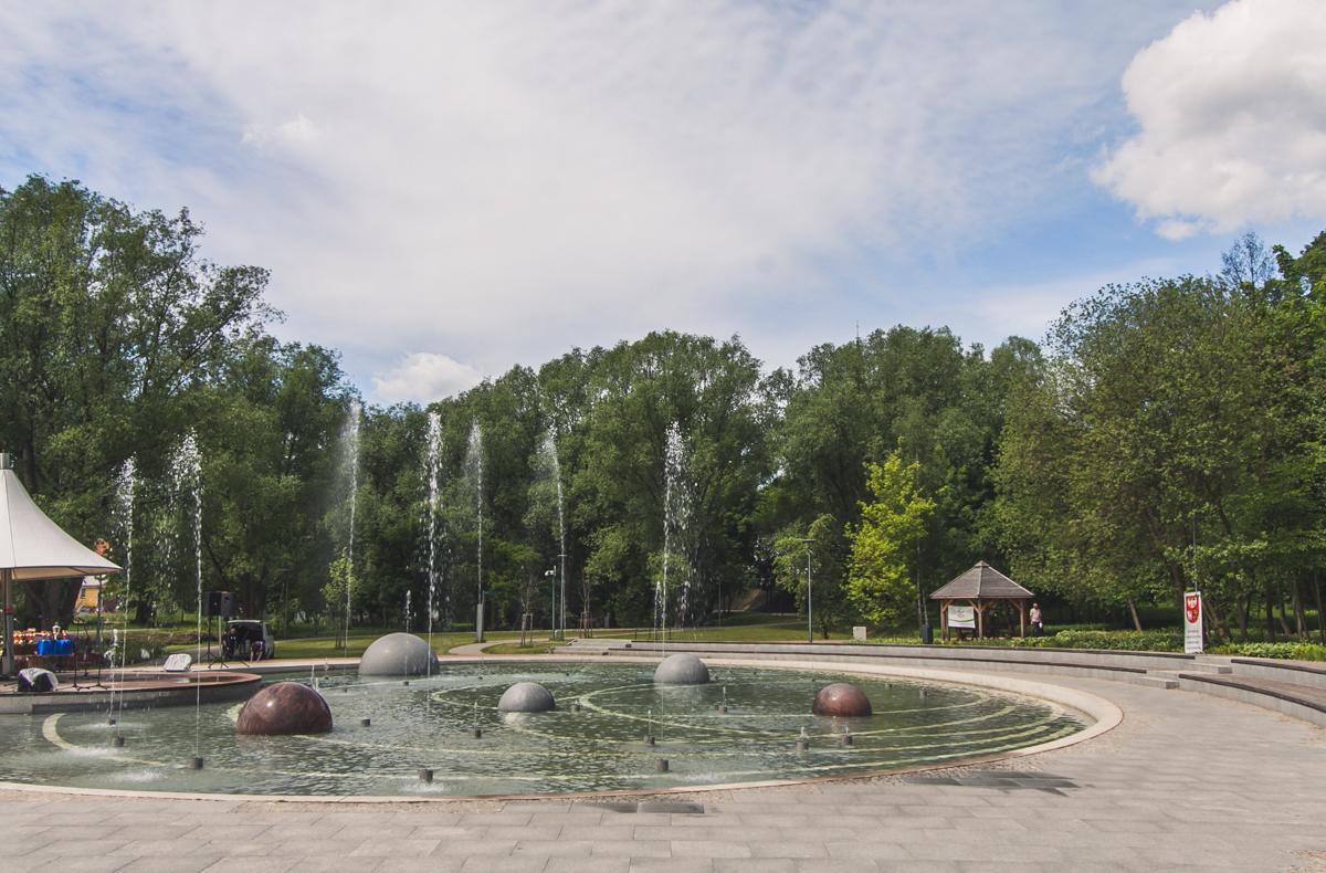park centralny olsztyn fontanna