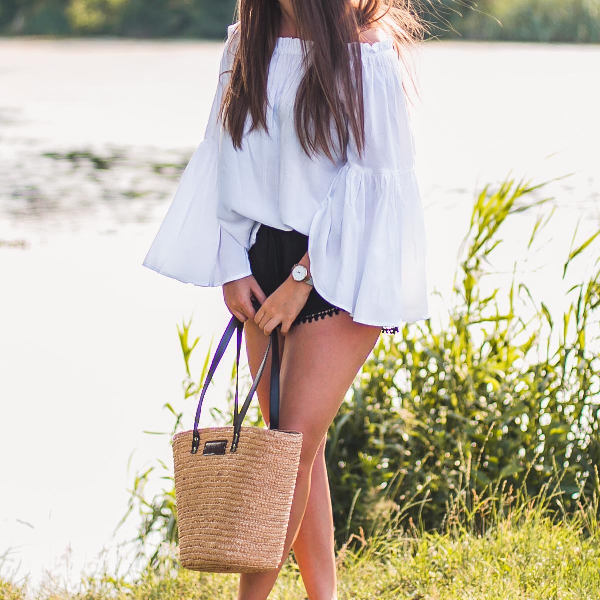 słomiana torba plażowa