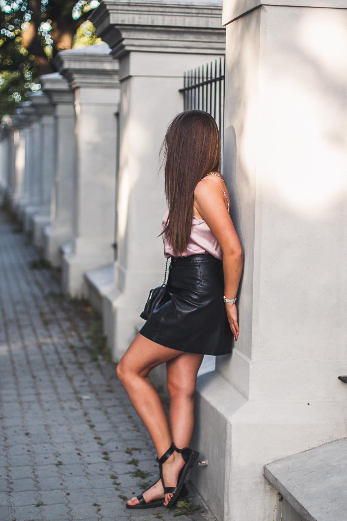 do czego nosić skórzaną spódnicę