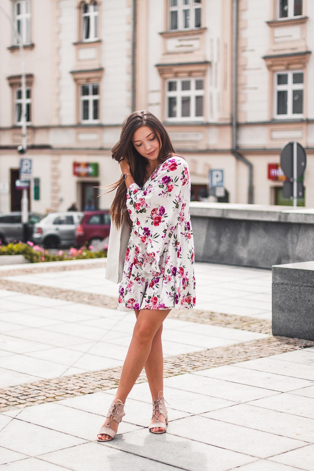 sukienka w kwiaty na lato