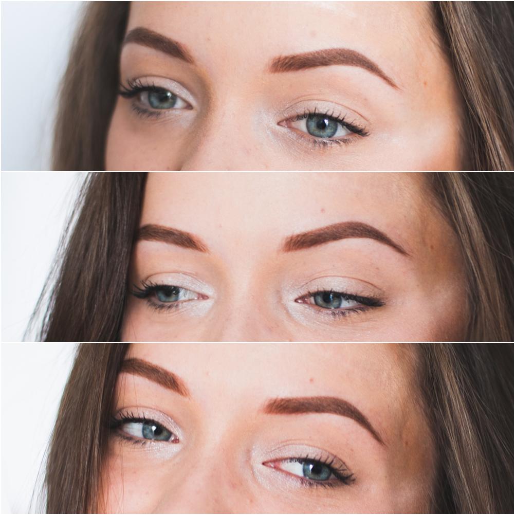 Makijaż permanentny metodą pudrową po korekcie