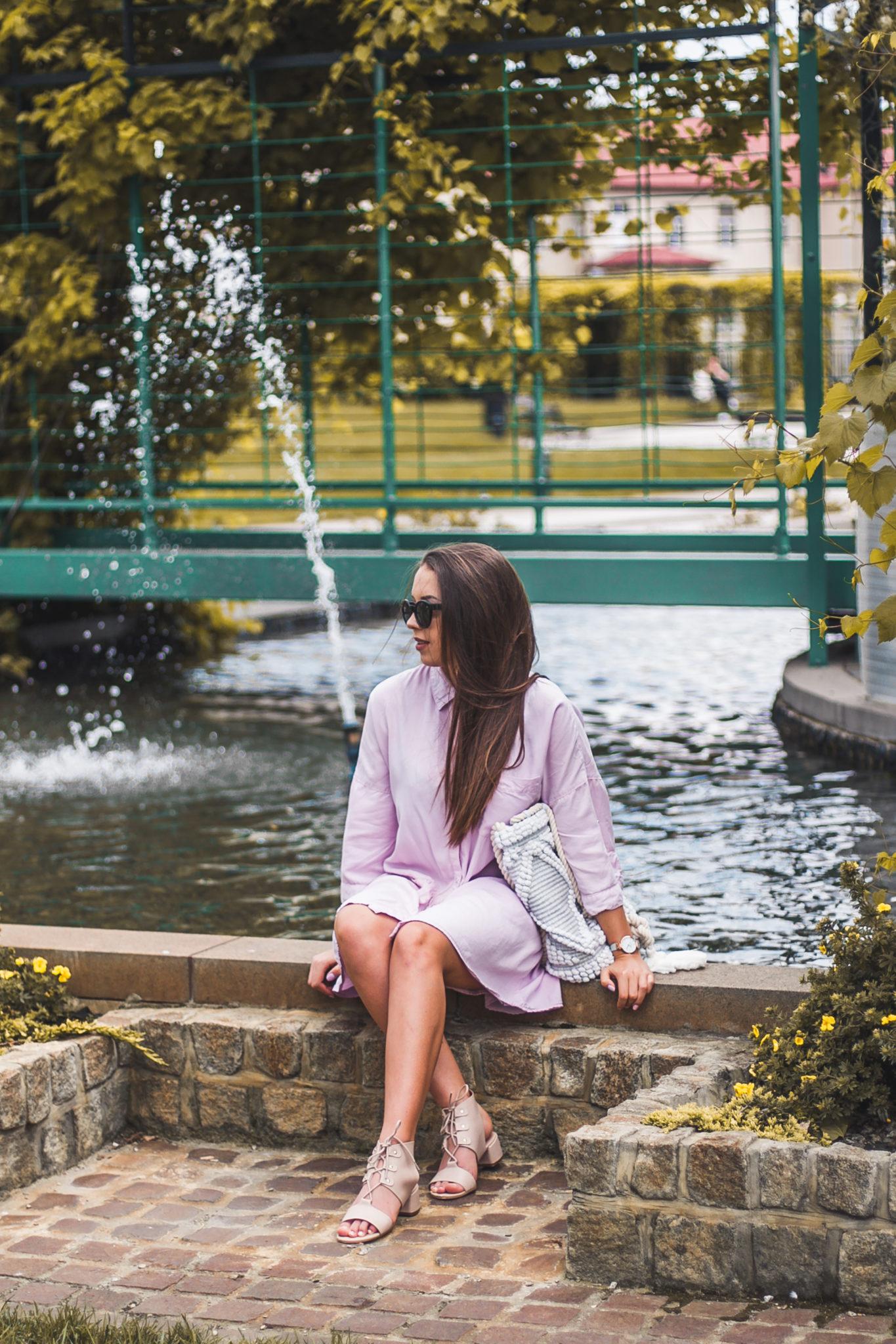 pastelowe wiązane sandały z topshop