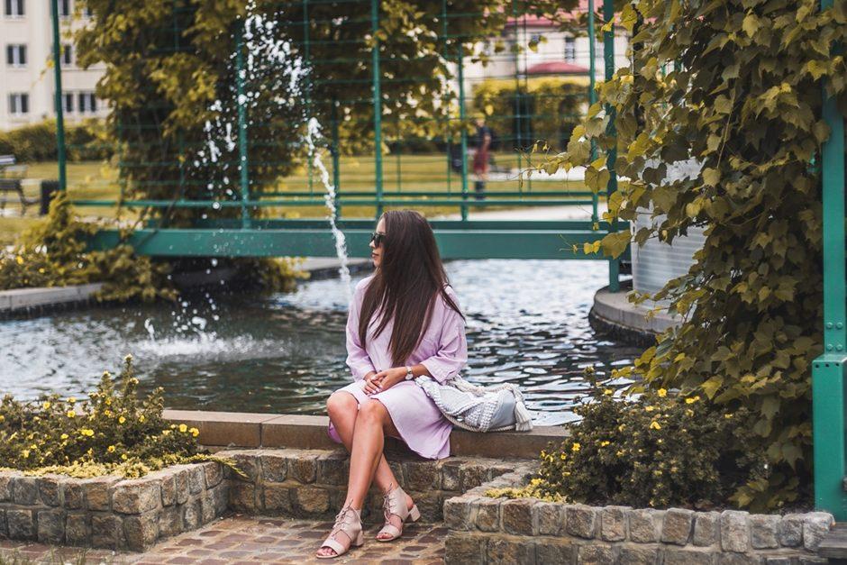 różowa sukienka blog modowy