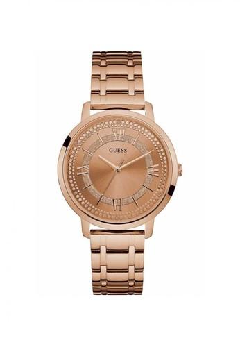 zegarek różowe złoto guess