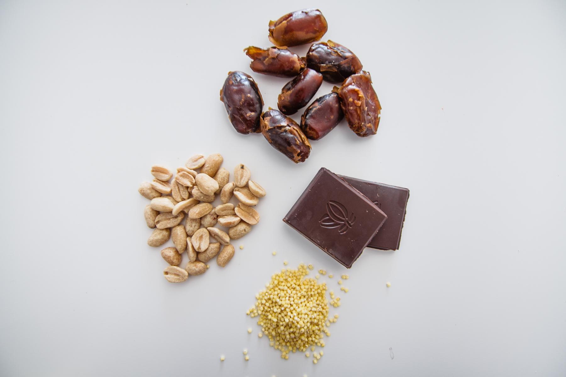 składniki do snickersa