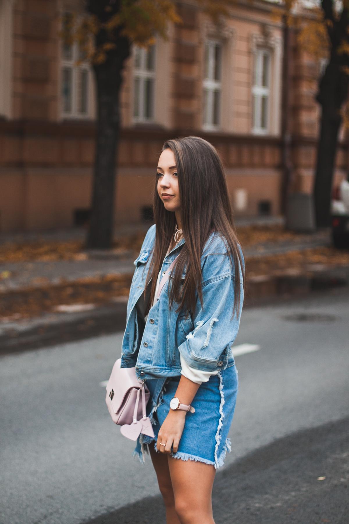 Jeansowy zestaw na jesień