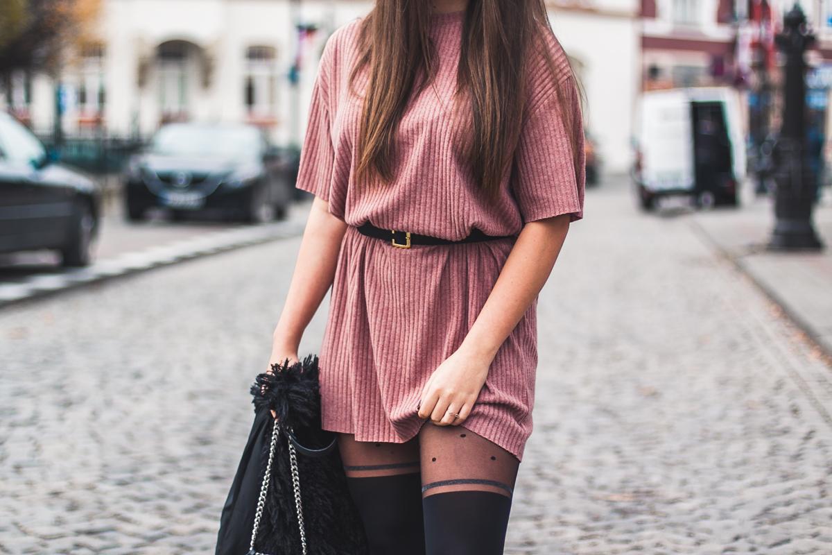 Łososiowa sukienka zara