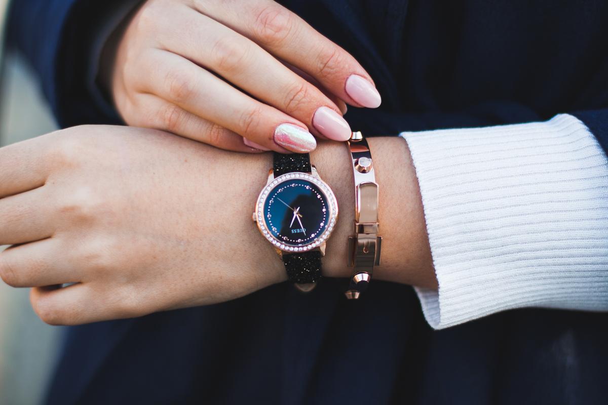 guess zegarek brokatowy