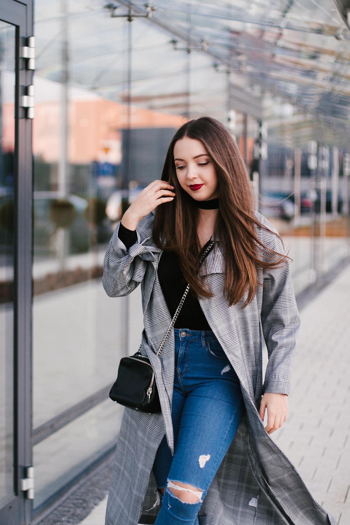 jeansy topshop jamie stylizacja