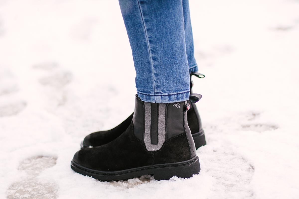Buty skórzane sztyblety napapijri mivo