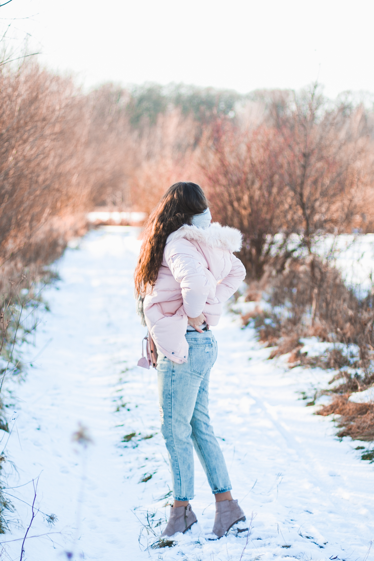 różowa kurtka zimowa
