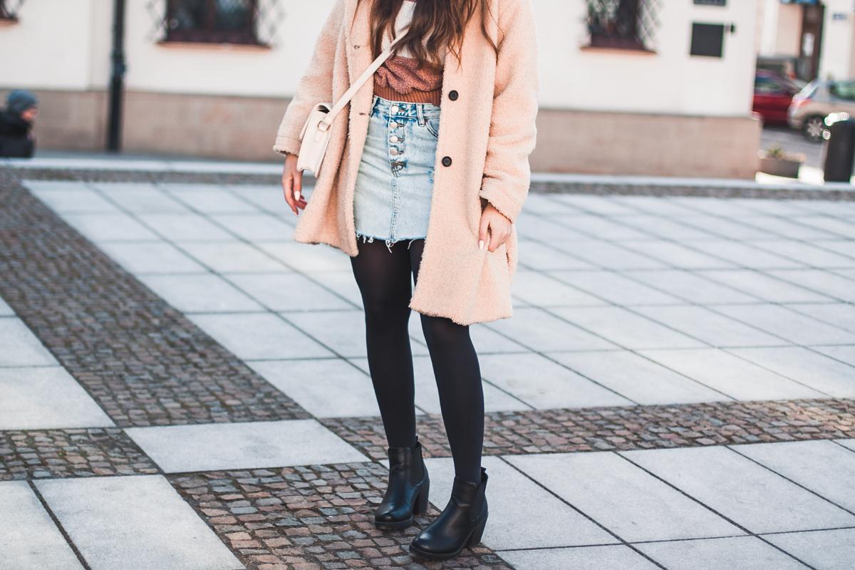 jeansowa spódnica pull&bear