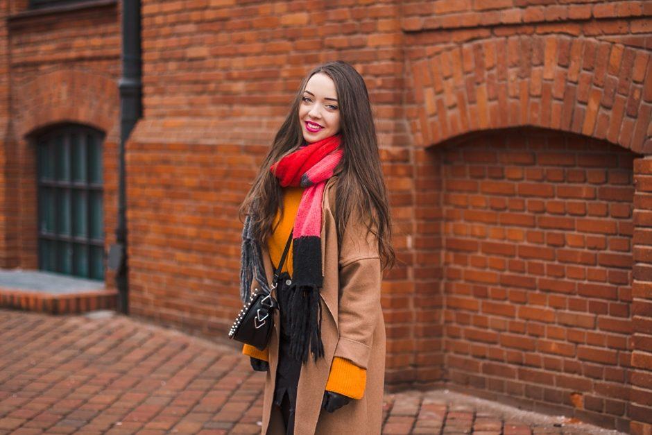 pomarańczowy sweter neonowy na-kd