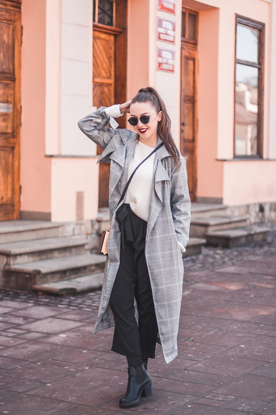 Szerokie spodnie z kokardą
