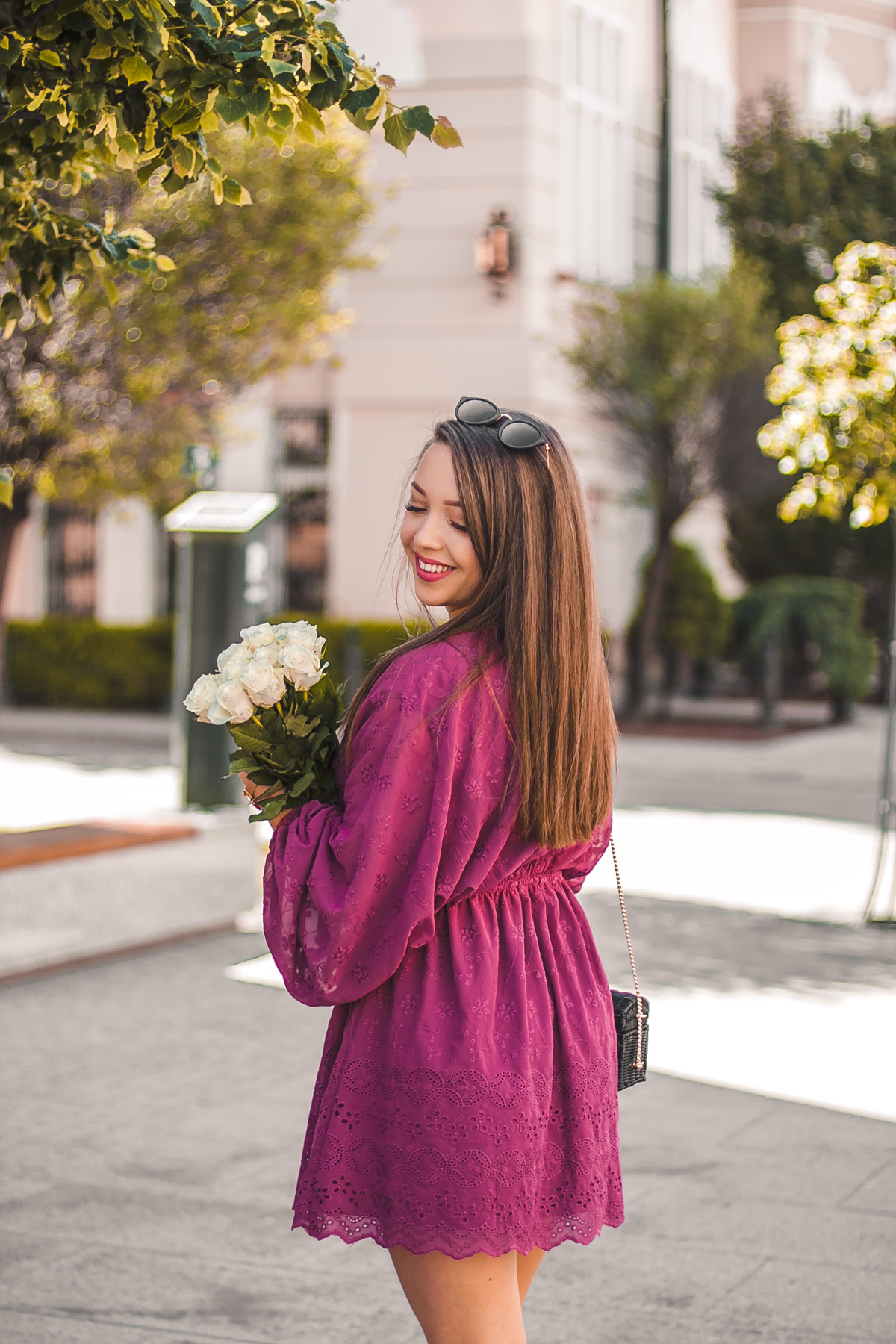 fioletowa sukienka koronkowa na-kd