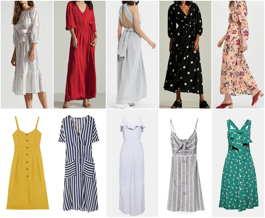 sukienki midi i maxi na lato