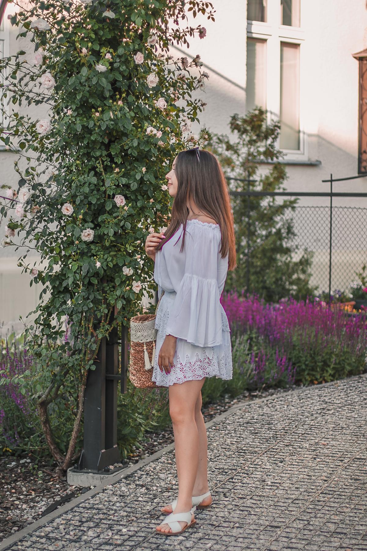 haftowana spódnica koronkowa na-kd