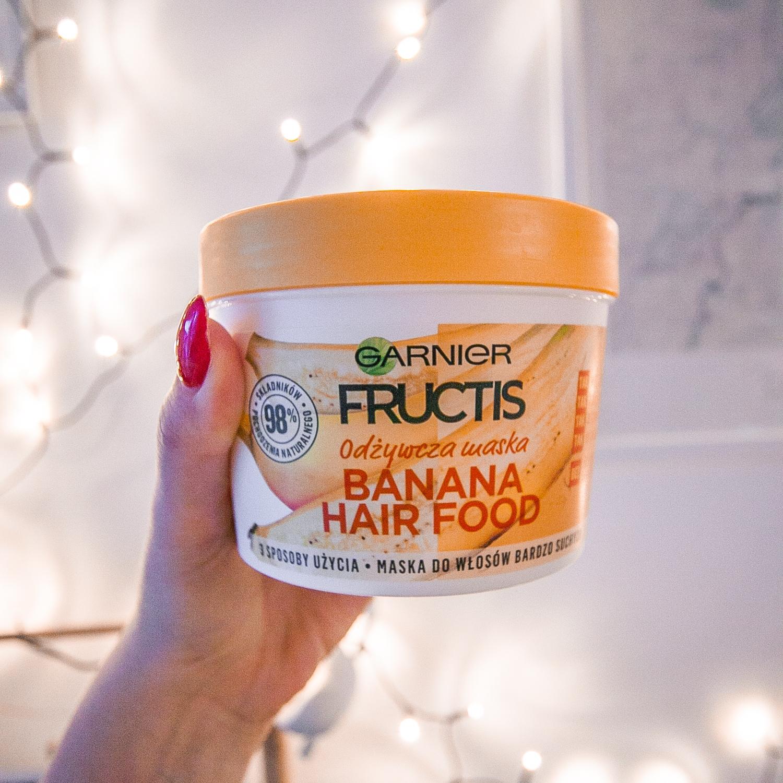 recenzja maski Garnier Fructis Banana Hair Food