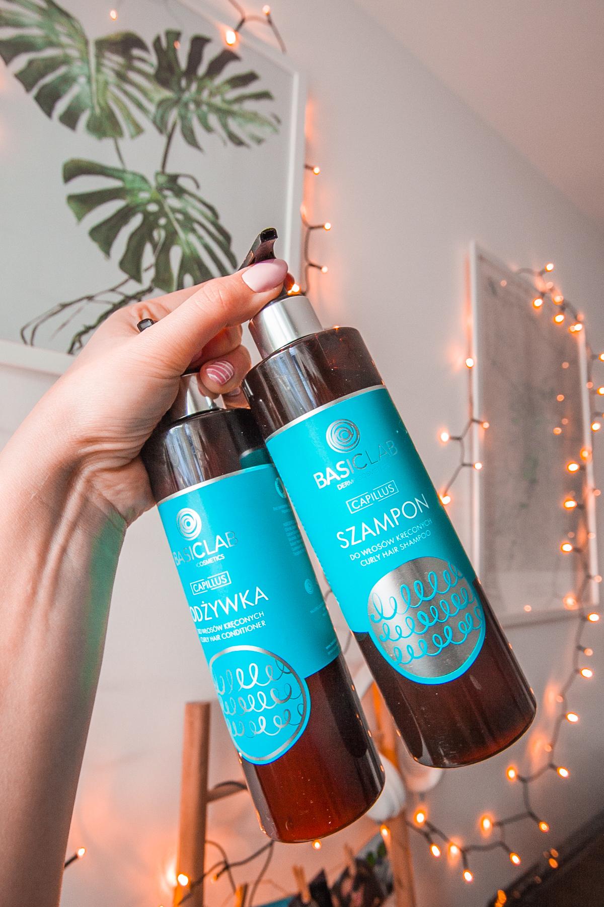 basiclab szampon i odżywka do włosów kręconych