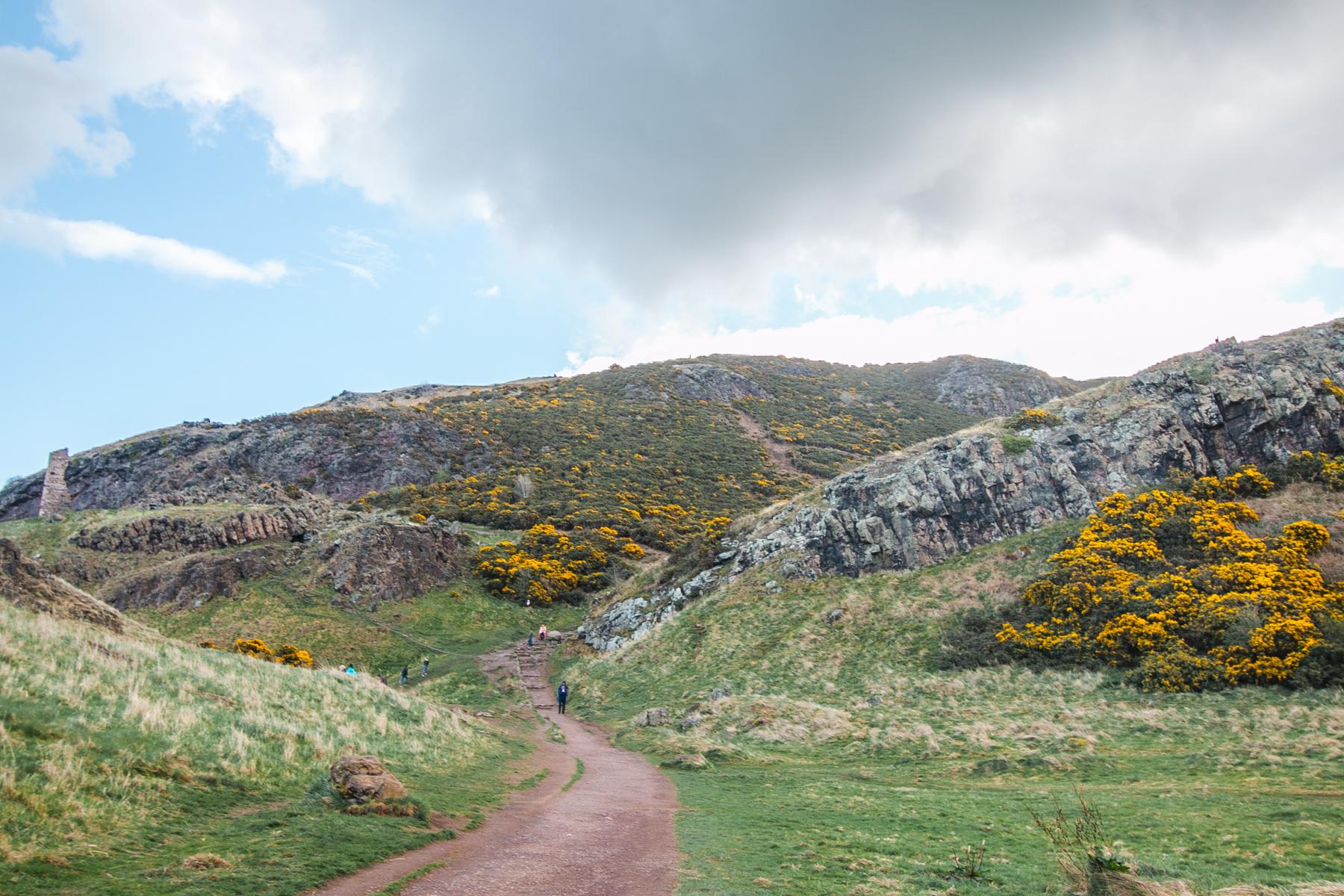 Arthur's seat wzgórze w edynburgu