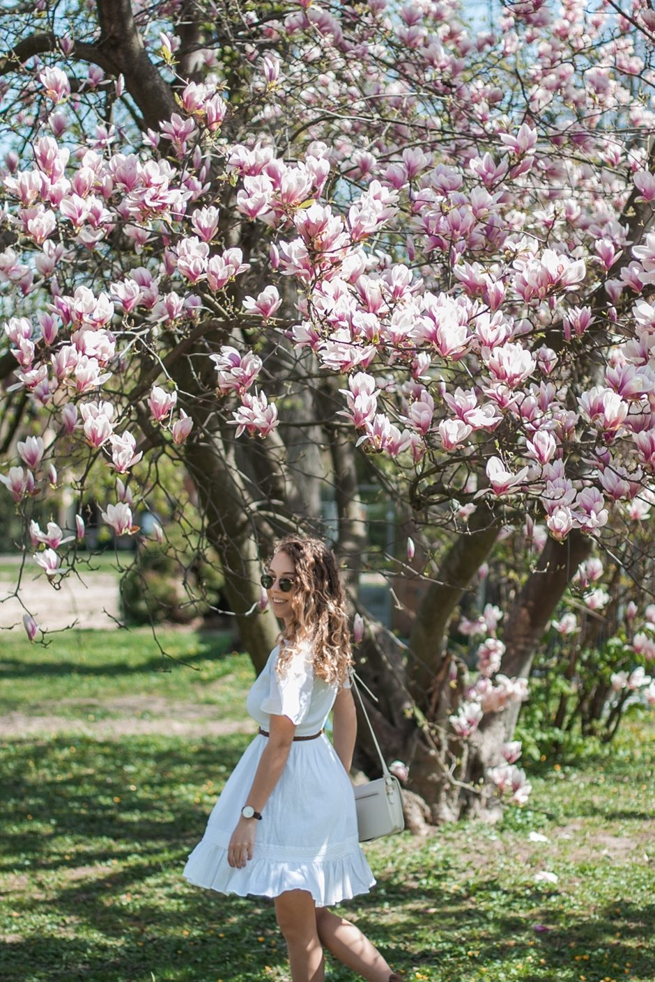 biała sukienka boho z nakd
