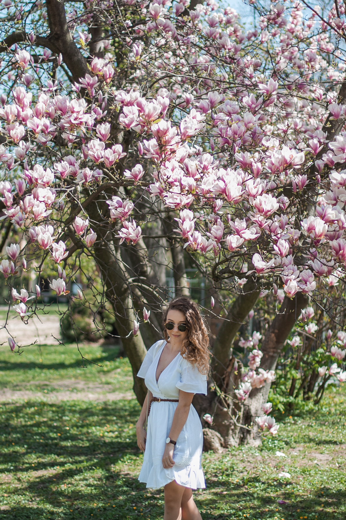 boho sukienka biała na lato