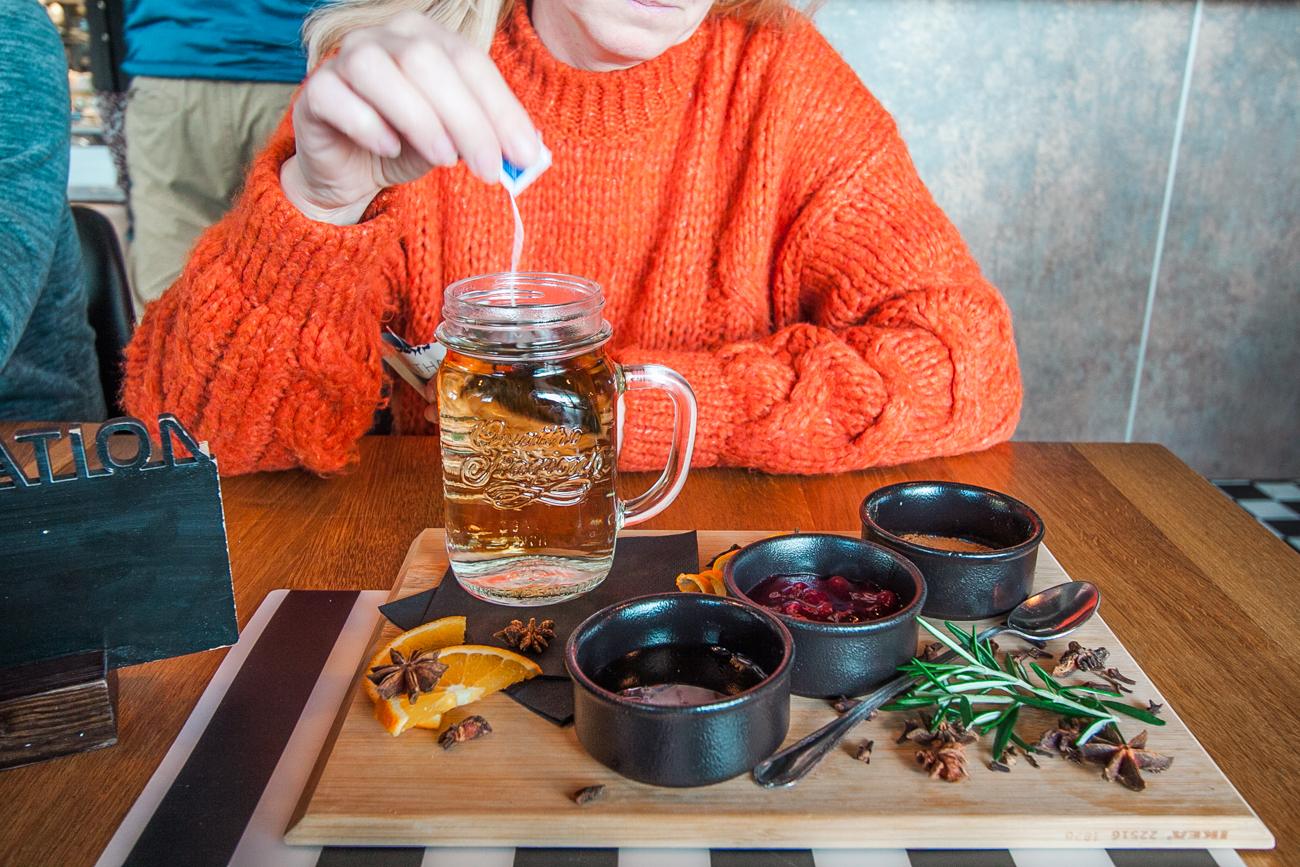 herbata z dodatkami podkładka