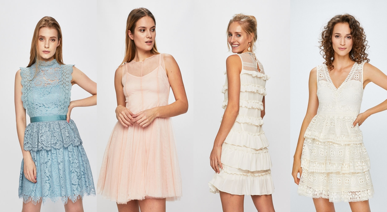 koronkowe i tiulowe sukienki na wesele