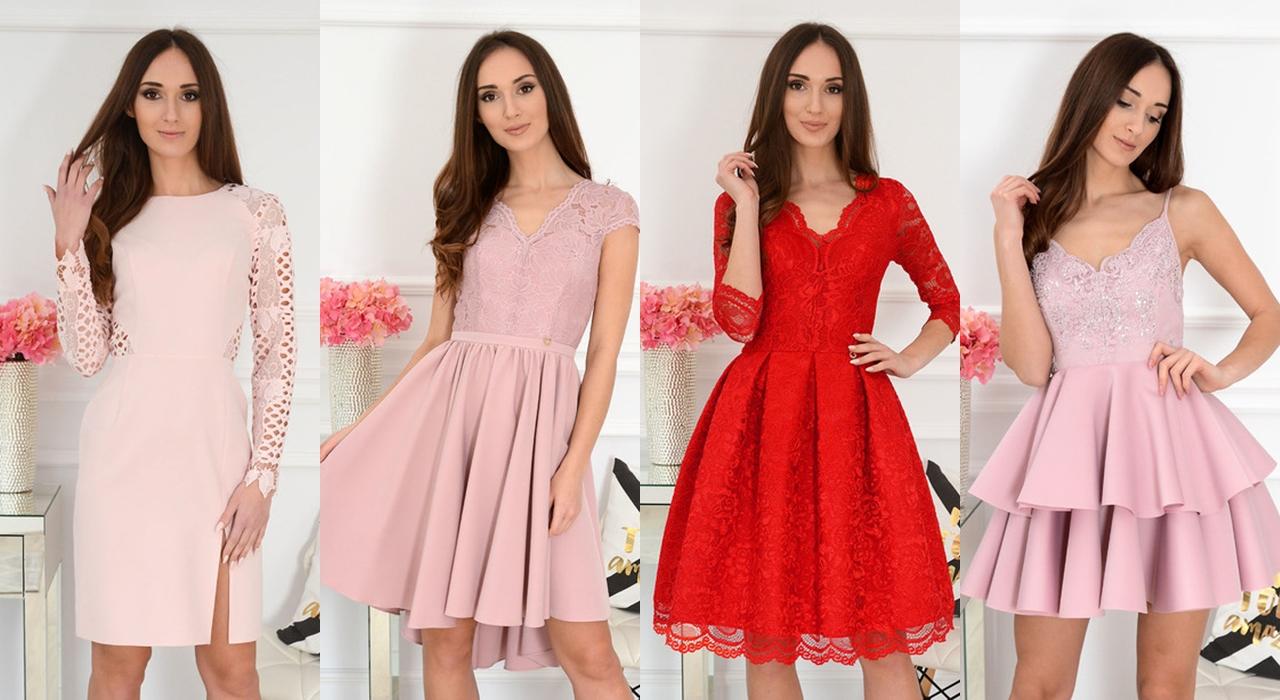 różowe sukienki na wesele