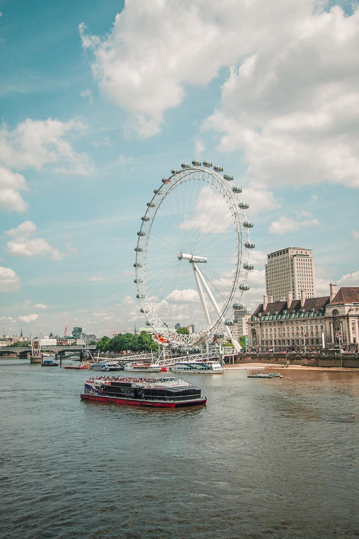 London Eye najlepsze atrakcje londynu