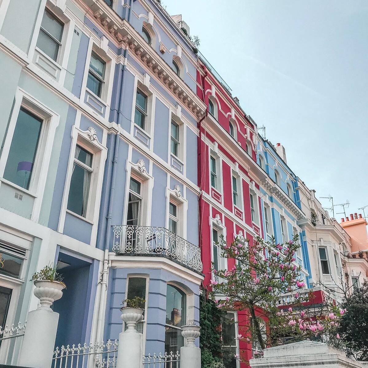 kolorowa dzielnica londynu pastelowe domki