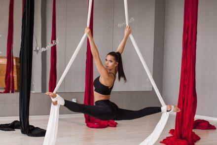 akrobatyka powietrzna szarfy anna węklar