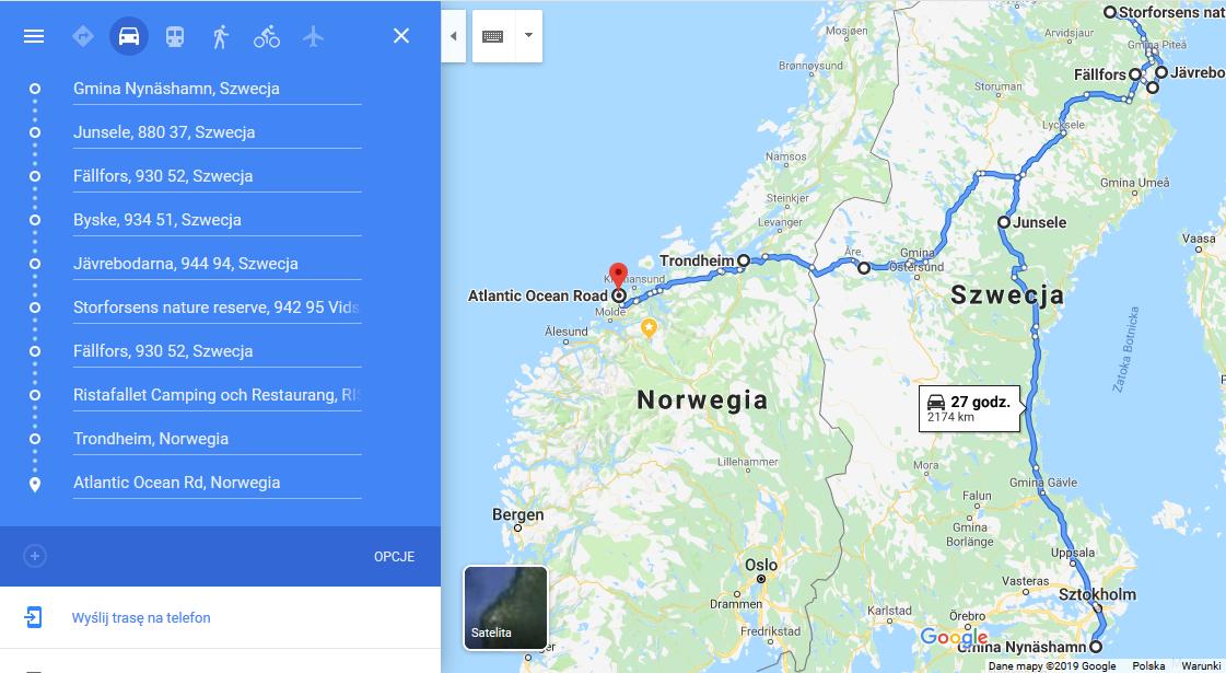 jak zorganizować podróż do szwecji i norwegii samochodem