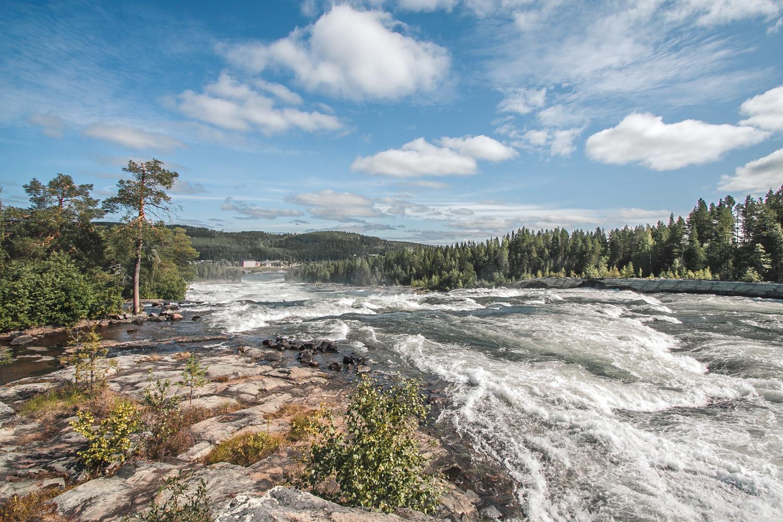 wodospad storforsen w szwecji