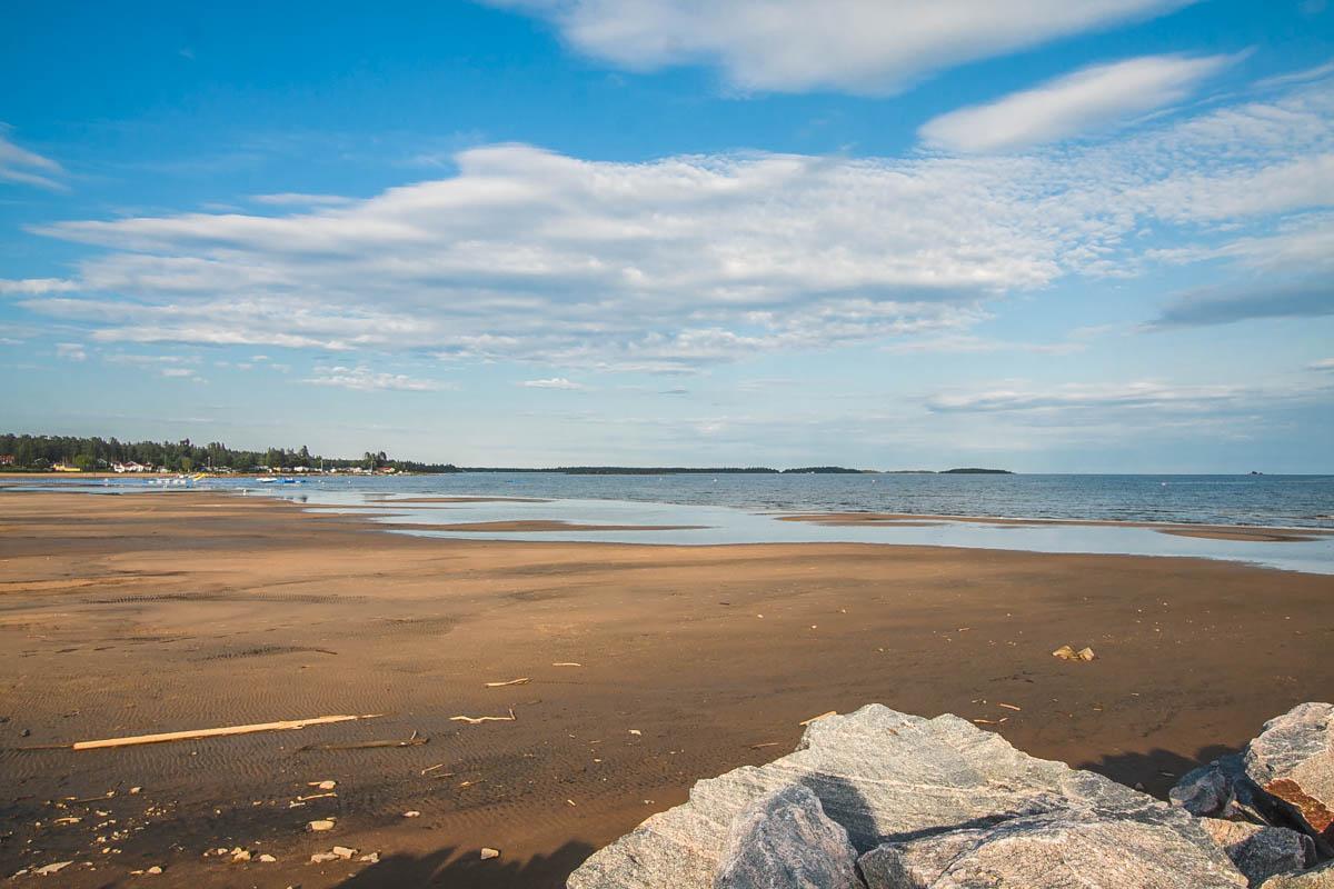 plaża piaszczysta w szwecji
