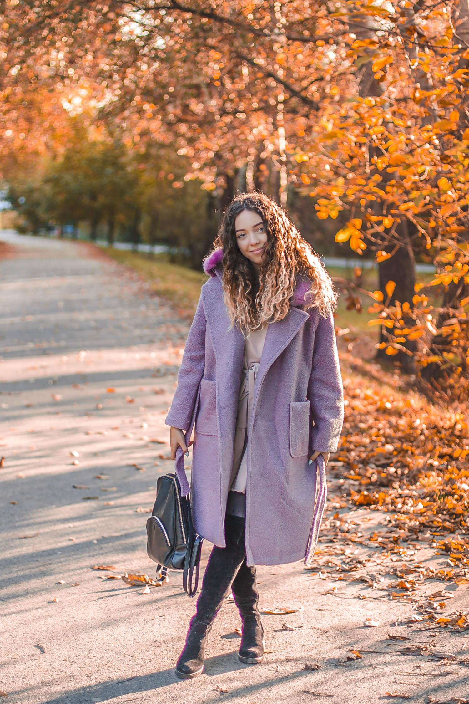 jesienna stylizacja z płaszczem