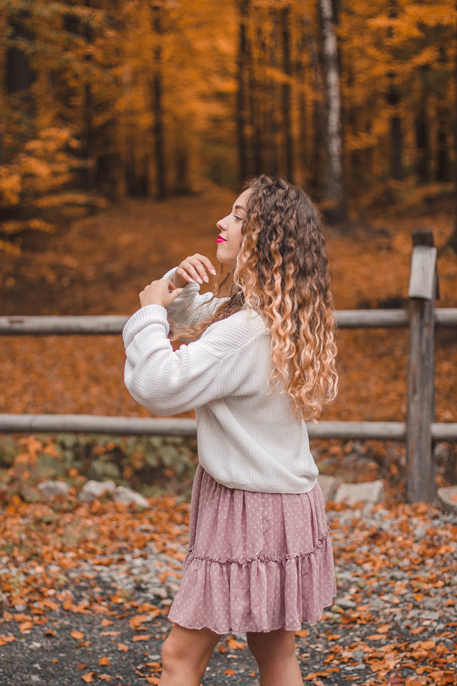 blog o kręconych włosach złota jesień