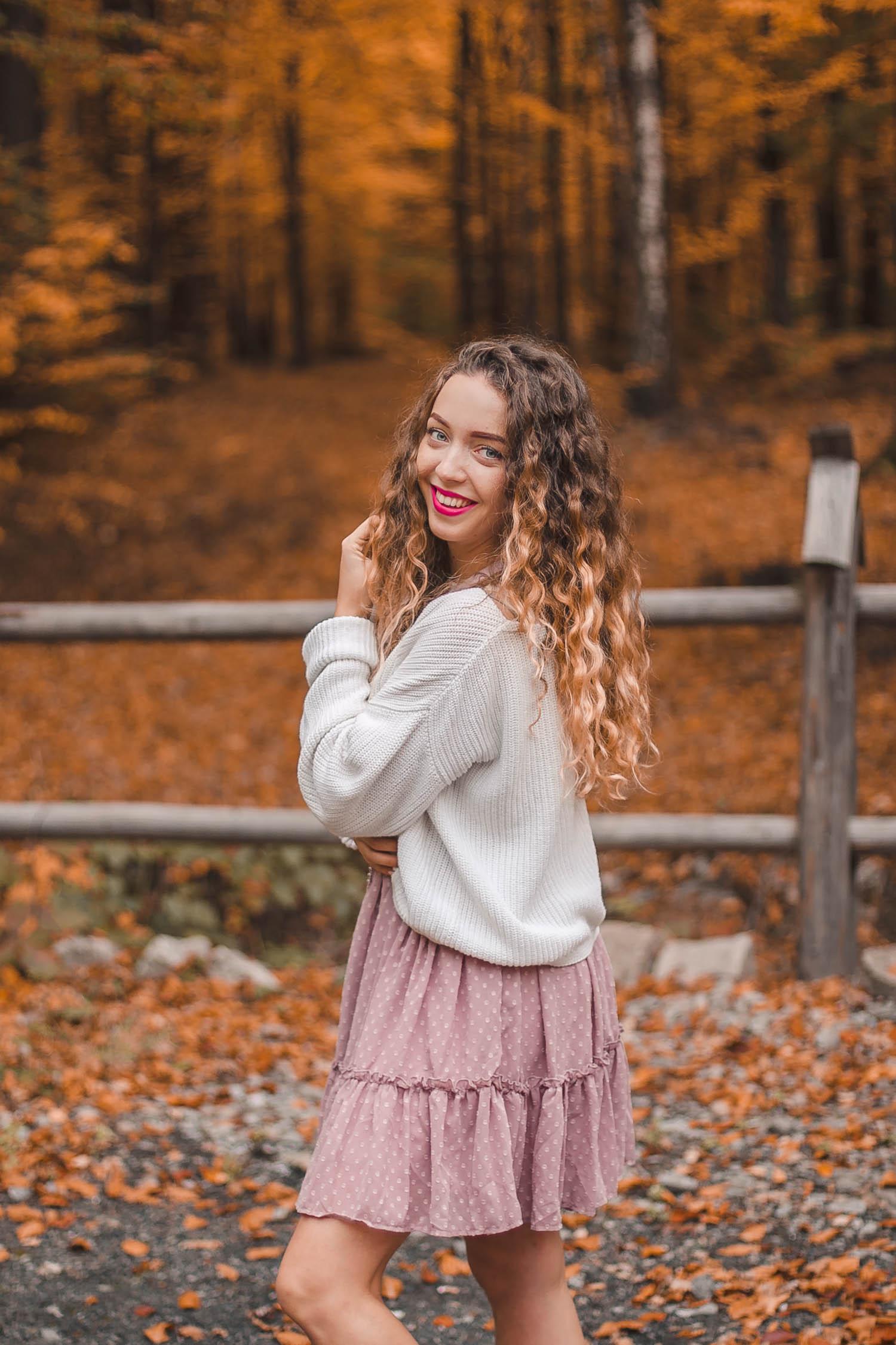 pastelowa spódnica