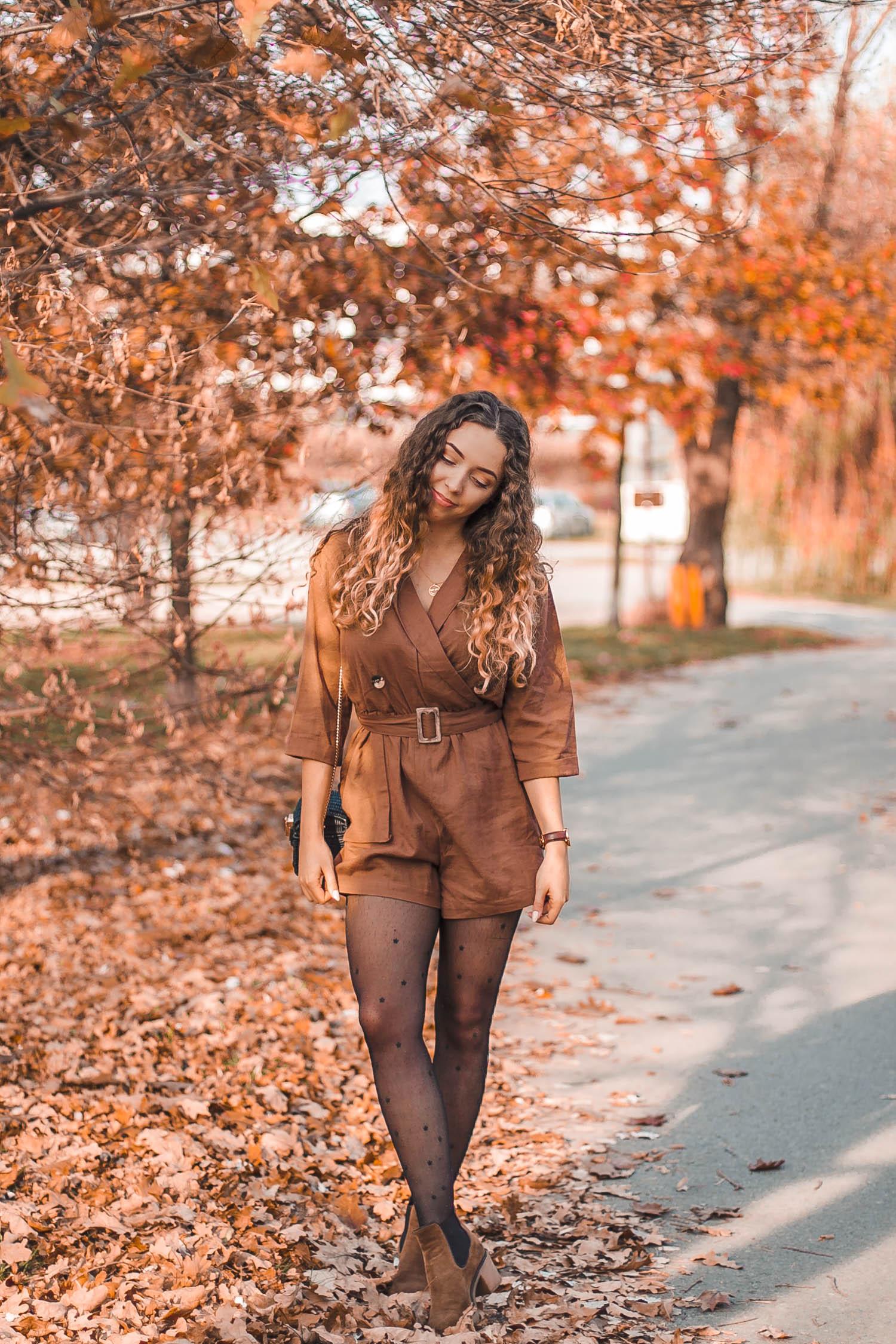 kombinezon lniany na jesień