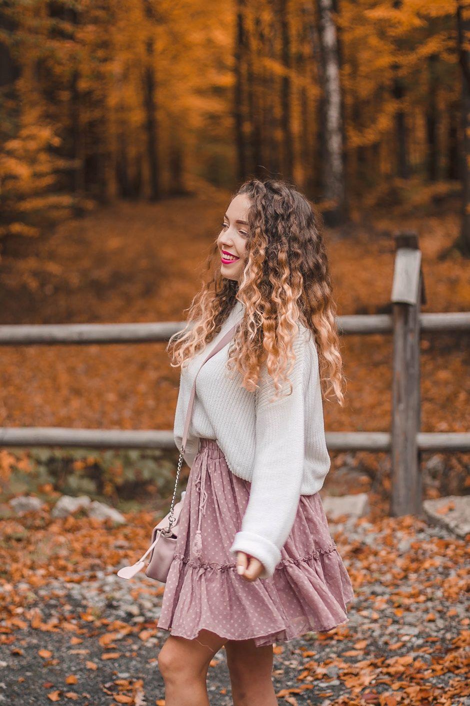 złota jesień pastelowa stylizacja