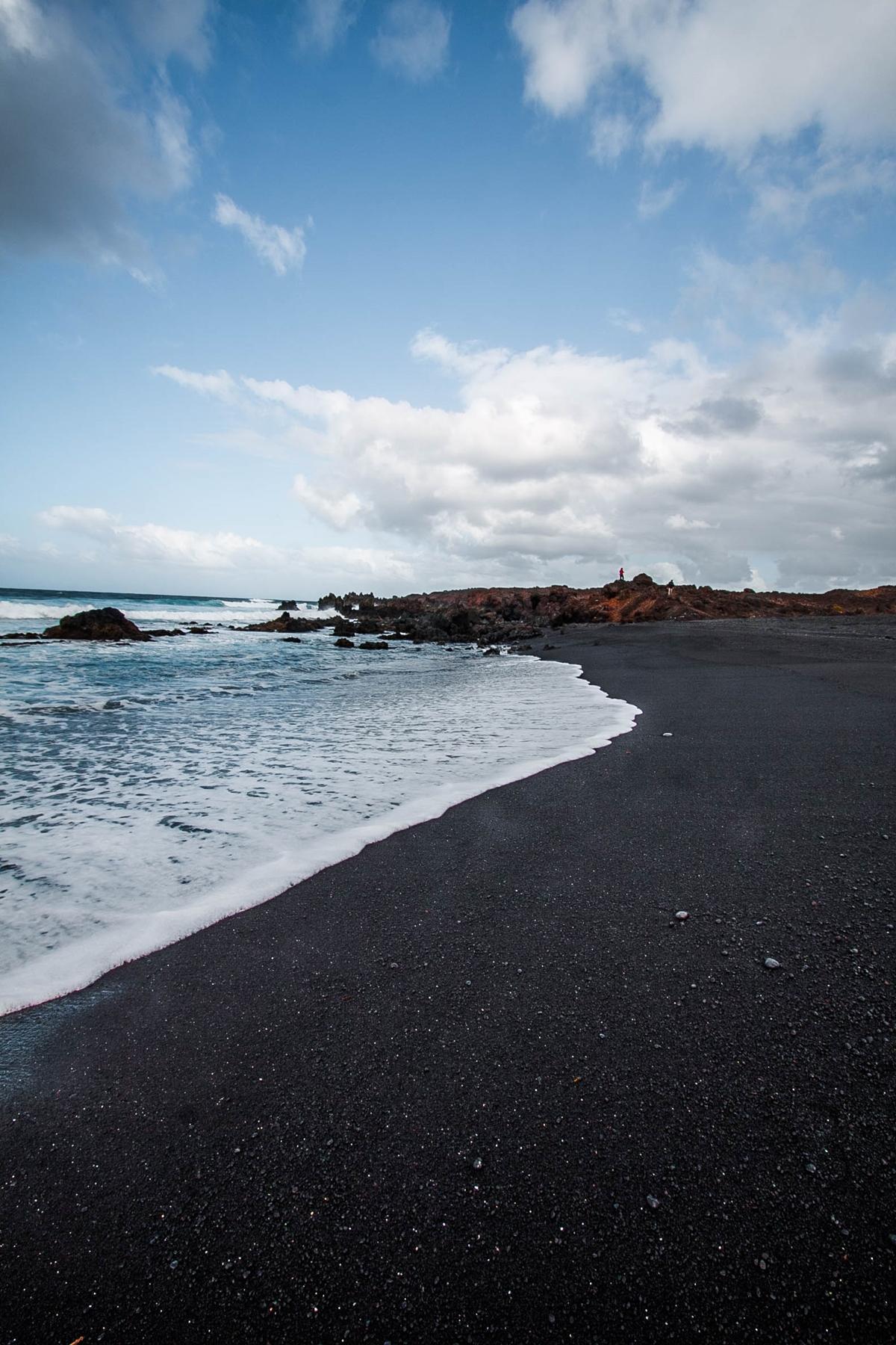 czarna plaża na lanzarote