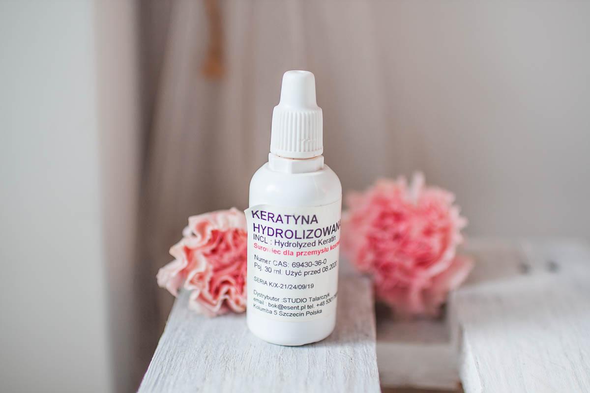 keratyna hydrolizowana proteiny na włosy