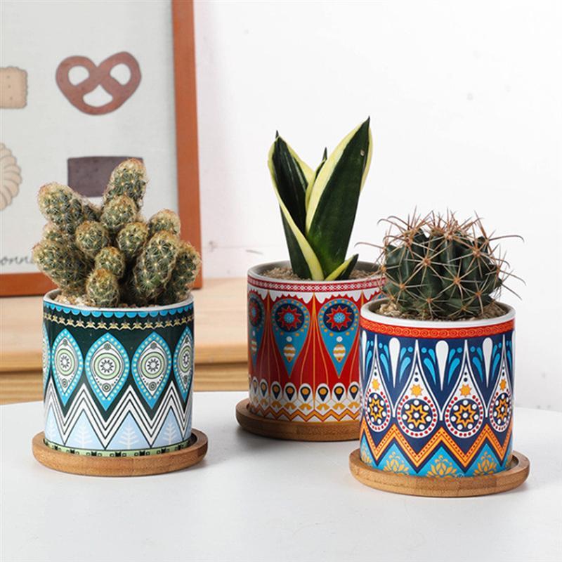 doniczki azteckie wzory