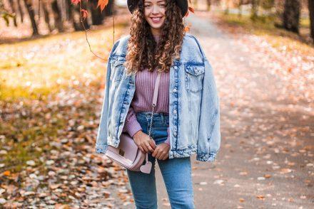 Jeansowy duet jesienna stylizacja