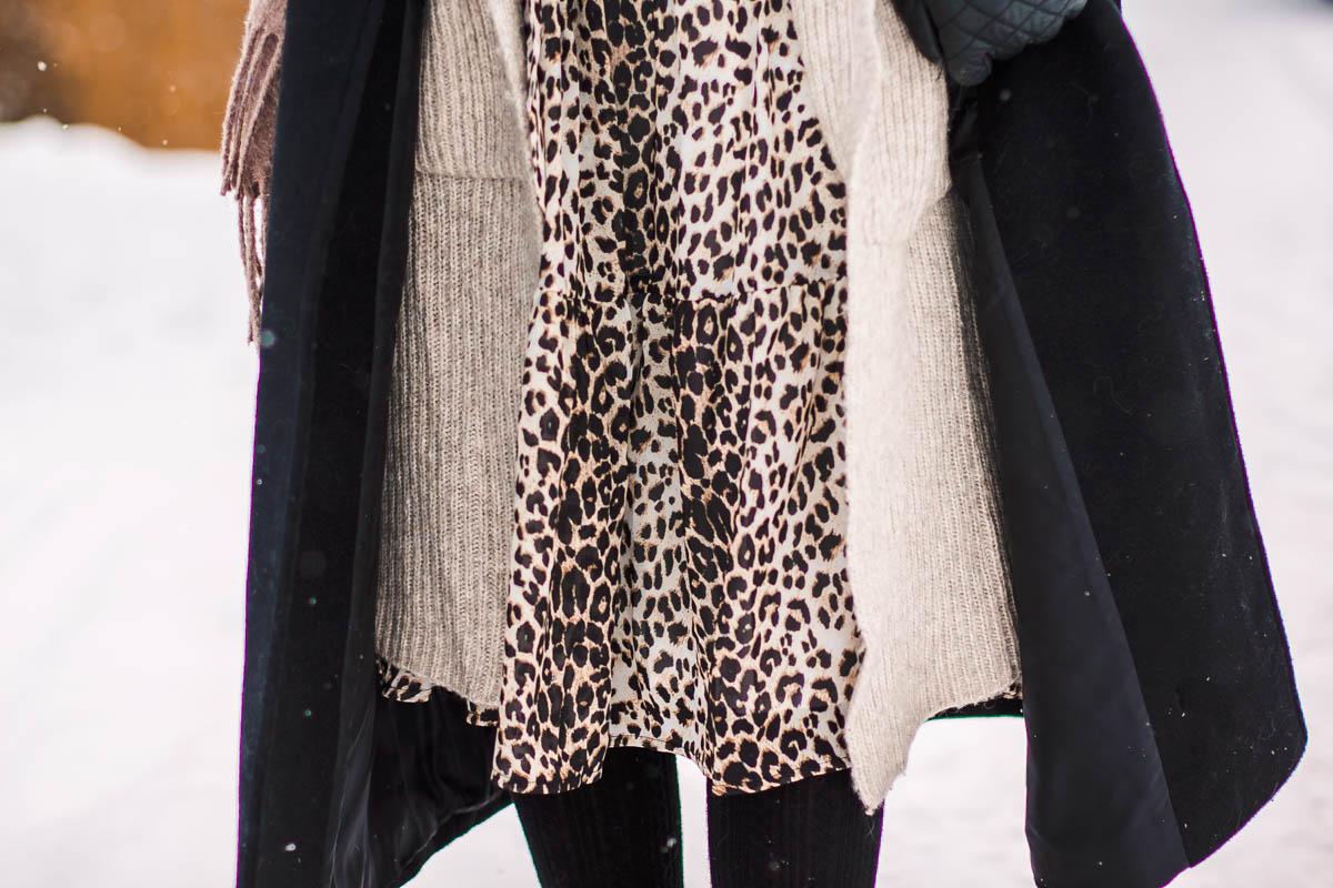 sukienka cętki