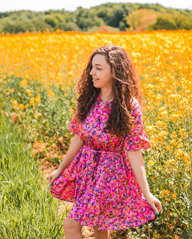 wiosenne stylizacje z sukienkami